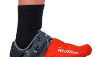 Velotoze Shoe Covers (Kort of Lang – Zwart en lichtblauw (kort) + Toe Cover (Red)